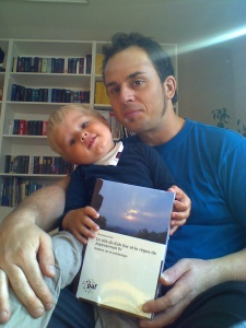Mr. Harald Grebner and his son, lives in Germany, with the book of Koh Ker