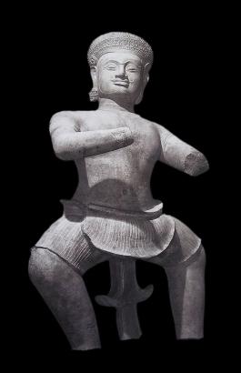 Statue of Phima (?) from Mahabharata Story (Style of Koh Ker, 10th century)